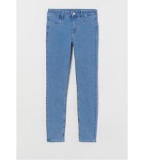 ÚJ! H&M kék skinny regural waist farmer nadrág