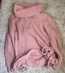 Púderrózsaszin alul megköthető pulcsi
