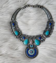 Indián stílusú kék nyakék