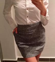 Szürke női szoknya