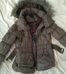 Barna vastag kabát