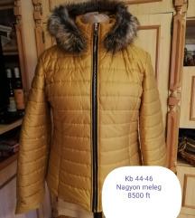 Mustársárga téli kabát XL