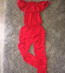 Piros női overál ruha új