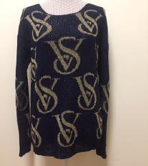 Sötétkék-arany VS pulóver