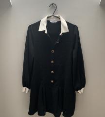 Fekete galléros ruha (xs)