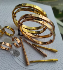 Cartier Love rosegold gold silver karkötő