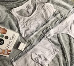 Fehér Calvin Klein fehérnemű szett M-es