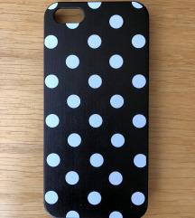 ÚJ! Retro fekete-fehér pöttyös iPhone 5/SE tok