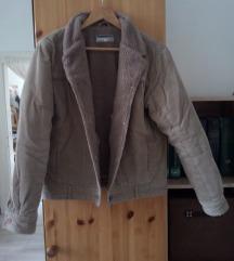 Barna kordbársony kabát M