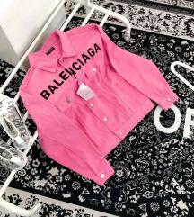Balenciaga pink farmerkabát