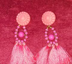 Rózsaszìn rojtos fülbevaló
