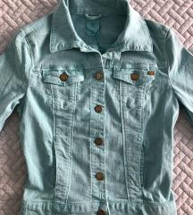 Új, címkés türkizkék farmer dzseki kabát