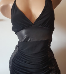 Fekete miniruha egyedi XS-S-M
