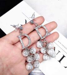 D I O R ihlette luxus fülbevaló ezüst