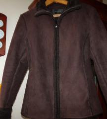 Női műirha barna kabát, 38-as/csere is