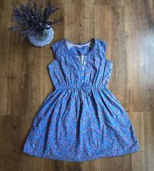 Virágos kék ruha