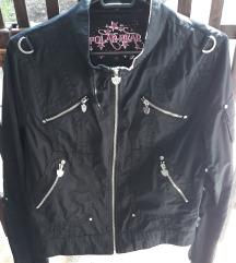 Fekete motoros stílusú dzseki