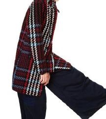 Jacquard szövésű H&M átmeneti kockás kabát