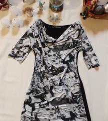 Fekete-fehér extravagáns miniruha/tunika
