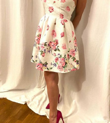 Blue Velvet virágos ruha 36-38