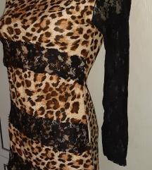 Csipkés leopárdos felső tunika