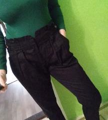 AKCIÓ!!Paperbag fazonú vékony vászon nadrág
