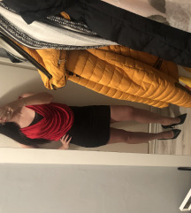 Amisu piros/fekete ruha s-es