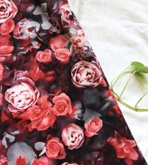🌹 Boohoo rózsás bodycon ruha 🌹