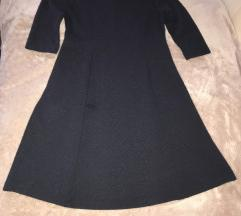 F&F sötétkék harang szabású ruha 42 L