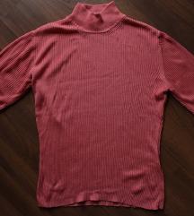Retró élénk rózsaszín garbó póló