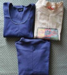 S, 36 - 3 db hosszú ujjú póló, lila, mintás