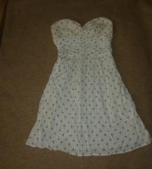 Fehér pánt nélküli nyári ruha XS/S 34/36