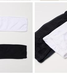 H&M fekete top / bandeau (38) (új)
