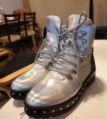 Új Hologrammos ezüst egyedi bakancs!