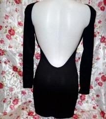 Új fekete kivágott alkalmi mini ruha S