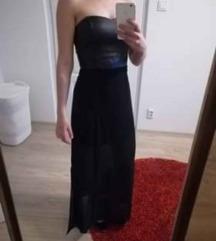 Alkalmi fekete hosszított ruha