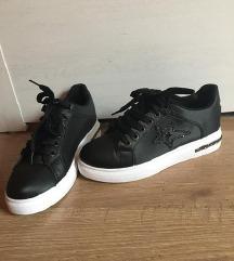 AKCIÓ ÚJ! Fekete bőr sneaker/tornacipő