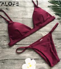 S-es méretű bordó bikini