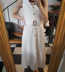 Címkés fehér ruha Mango