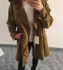 ÚJ! Hosszú ballonkabát övvel-trench coat ZARA