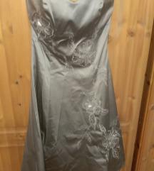 Pánt nélküli báli koktélruha ruha 38 pezsgő színű