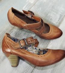 -Tamaris-bőr, pántos cipő /40/
