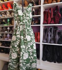 Virágos zöld Vila ruha
