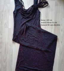 fekete-bordó ruha