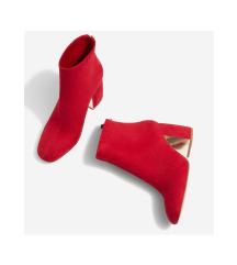 STRADIVARIUS Piros bokacsizma