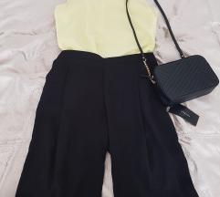 Új, címkés Zara fekete bermuda