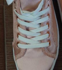 Új Bershka szatén golden rose sneakers