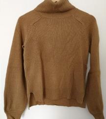 Barna garbó nyakú pulóver