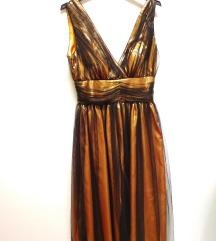 Alkalmi ruha arany fekete tül