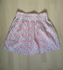 Virágos szoknya, rózsaszín